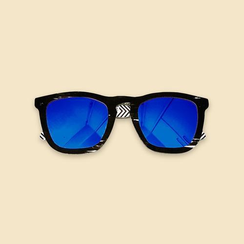 Papershades - Purple Jungle - Blue Lenses